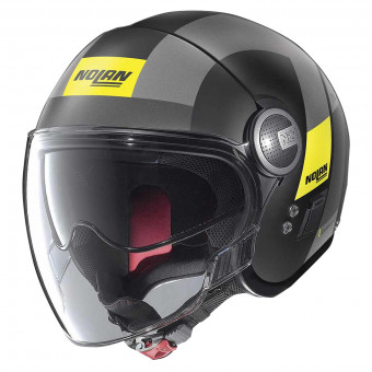 Casque Jet Nolan N21 Visor Spheroid Flat Black Yellow 49