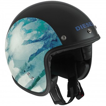 Casque Jet Diesel Old-Jack OJ 1 Black Blue
