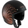 Casque Jet Diesel Old-Jack OJ 2 Matt Black Orange