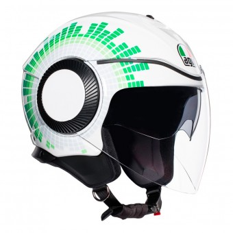 Casque Jet AGV Orbyt Ginza Blanc Italie