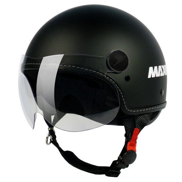 Casque Jet MAX Pmax Noir Mat