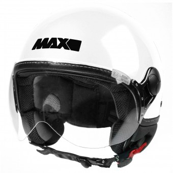 Casque Jet MAX Power Design Blanc Noir