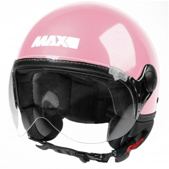 Casque Jet MAX Power Design Rose