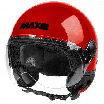 Casque Jet MAX Power Design Rouge