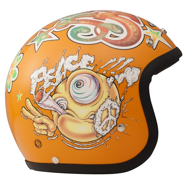 Casque Jet Dmd Vintage Rock N Roll
