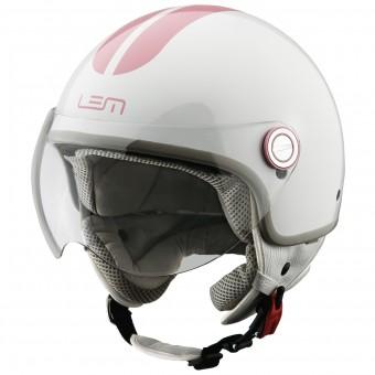 Casque Jet LEM Roger Go Fast White Pink