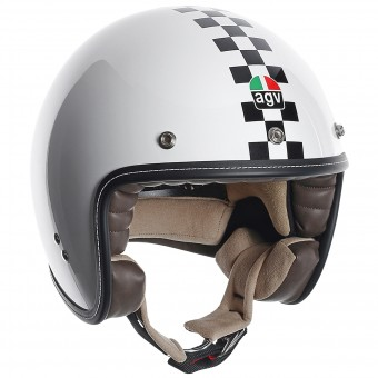 Casque Jet AGV RP60 Checker Flag
