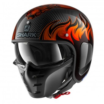 Casque Jet Shark S-Drak Carbon Dagon DOO
