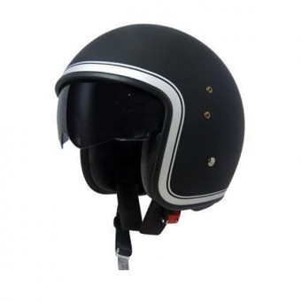 Casque Jet Up Smart Border Black Mat