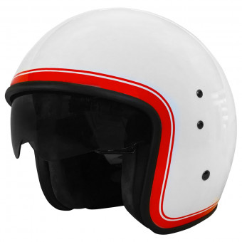 Casque Jet Up Smart Border White