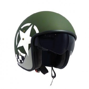 Casque Jet Up Smart Star Green Mat