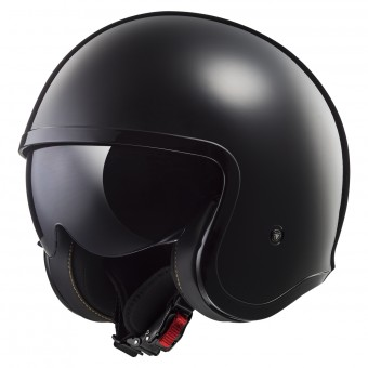 Casque Jet LS2 Spitfire Solid Black OF599
