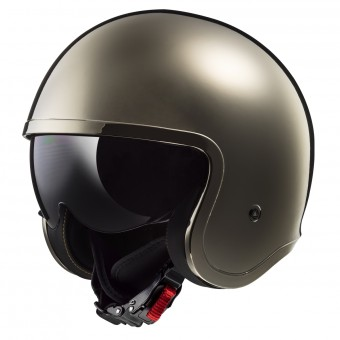 Casque Jet LS2 Spitfire Solid Chrome OF599