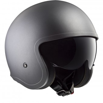 Casque Jet LS2 Spitfire Solid Matt Titanium OF599