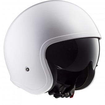 Casque Jet LS2 Spitfire Solid White OF599