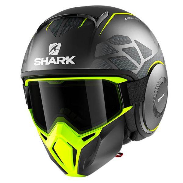 Casque Jet Shark Street Drak Hurok Mat AYK