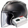 Casque Jet Arai SZ-R Vas Frost Black + Kit Bluetooth Sena SMH5