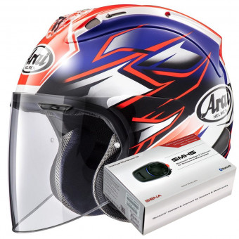 Casque Jet Arai SZ-R Vas Ghost Blue + Kit Bluetooth Sena SMH5