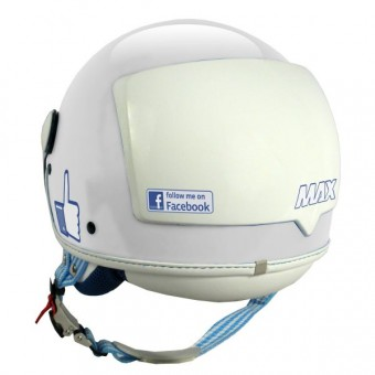 Casque Jet MAX The Social Network Blanc