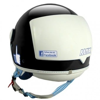 Casque Jet MAX The Social Network Noir