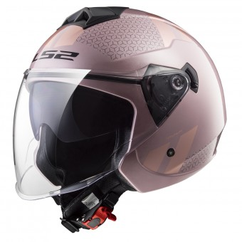 Casque Jet LS2 Twister Combo Pale Pink OF573