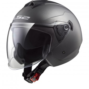 Casque Jet LS2 Twister Solid Matt Titanium OF573