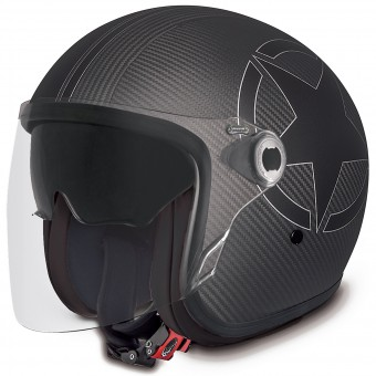 Casque Jet Premier Vangarde Star Carbon Black