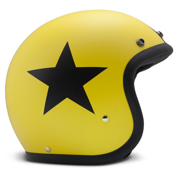 Casque Jet Dmd Vintage Star Jaune