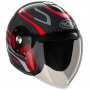 Casque Jet Roof Voyager Carbon Arrow Red Steel