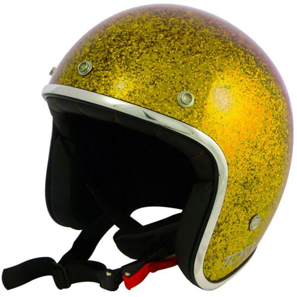 Casque Jet Torx Wyatt Glitter Yellow