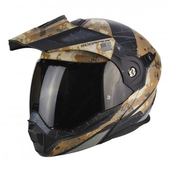 Casque Modulable Scorpion ADX-1 Battleflage Sand Silver