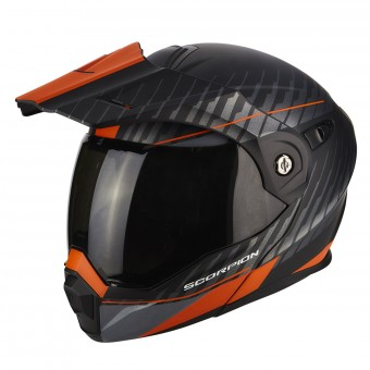 Casque Modulable Scorpion ADX-1 Dual Matt Black Orange