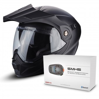 Casque Modulable Scorpion ADX-1 Matt Black + Kit Bluetooth Sena SMH5