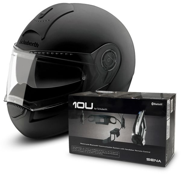 casque schuberth c3 basic noir mat kit bluetooth sena 10u en stock. Black Bedroom Furniture Sets. Home Design Ideas
