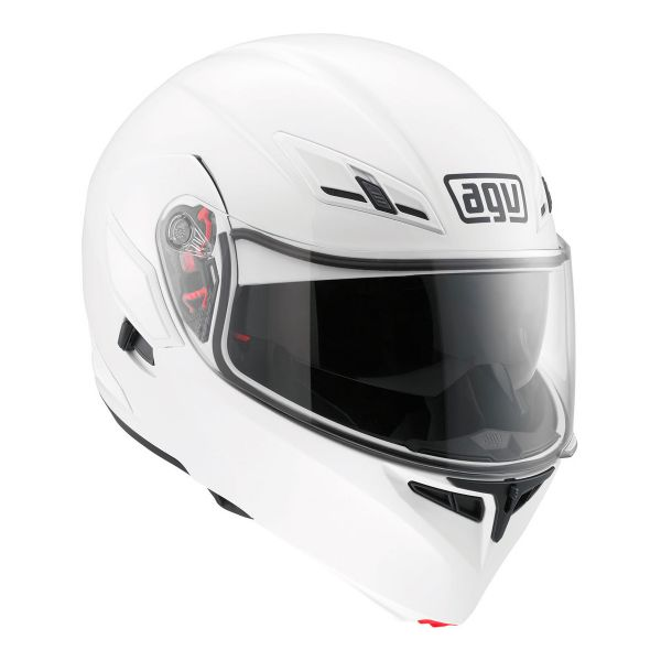 Casque Modulable AGV Compact ST Vermont White Black Red