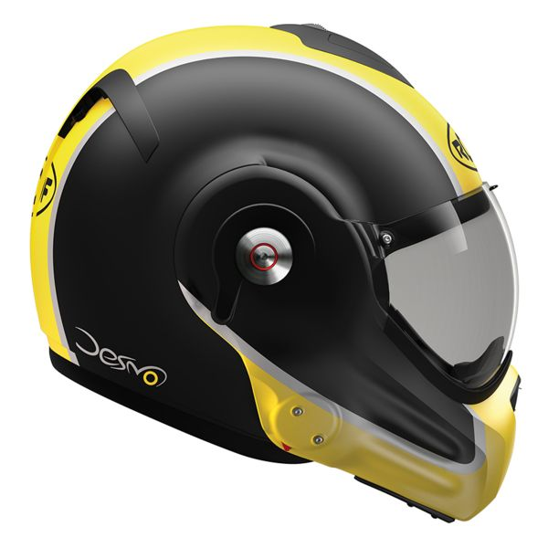 Casque Modulable Roof Desmo Flash Mat Black Yellow 3e Generation
