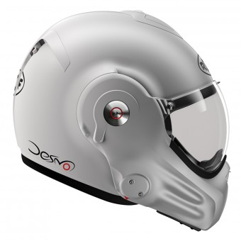 Casque Modulable Roof Desmo Matt Silverwhite 3e Generation