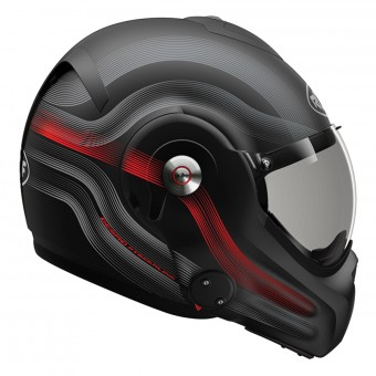 Casque Modulable Roof Desmo Streamline Matt Black Titan Red 3e Generation