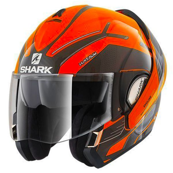 casque shark evoline serie 3 hataum hi vis oka en stock. Black Bedroom Furniture Sets. Home Design Ideas