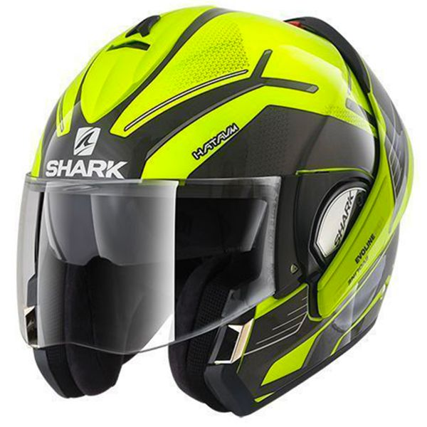 casque shark evoline serie 3 hataum hi vis yka au meilleur prix. Black Bedroom Furniture Sets. Home Design Ideas