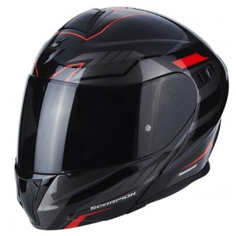 Casque Modulable Scorpion Exo 920 Shuttle Black Silver Red
