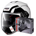 Pack N100 5 Consistency N-Com Metal White 19 + Kit Bluetooth B901 R