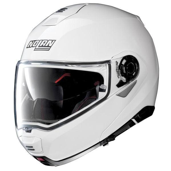 Casque Modulable Nolan N100 5 Classic N-Com Metal White 5
