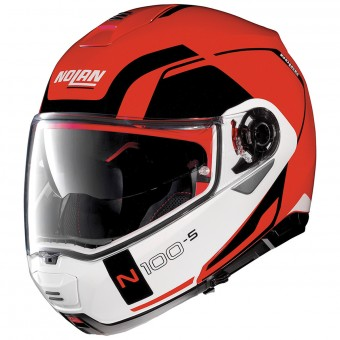 Casque Modulable Nolan N100 5 Consistency N-Com Corsa Red 23