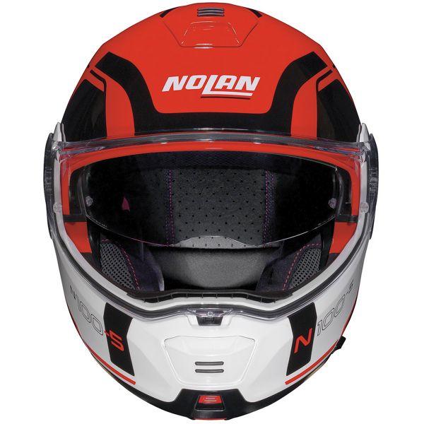 Nolan N100 5 Consistency N-Com Corsa Red 23 + Kit Bluetooth B601R