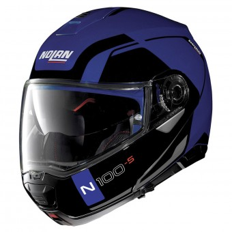 Casque Modulable Nolan N100 5 Consistency N-Com Flat Caymen Blue 24