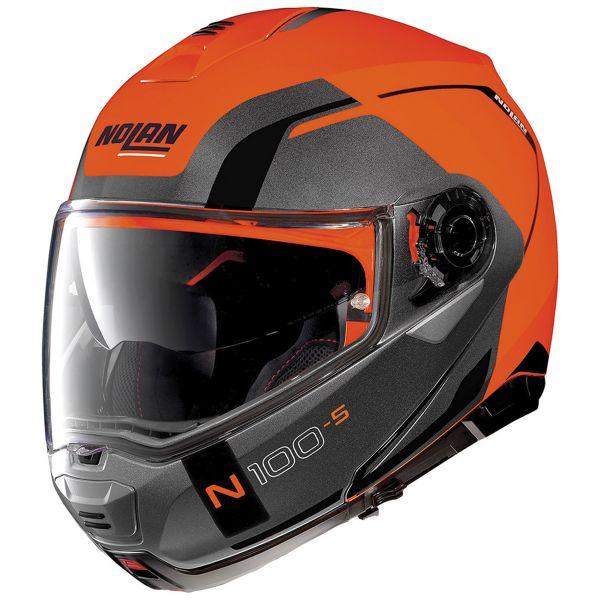 Casque Modulable Nolan N100 5 Consistency N-Com Led Flat Orange 27