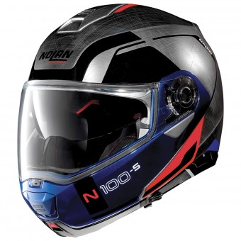 Casque Modulable Nolan N100 5 Consistency N-Com Scratched Chrome 29