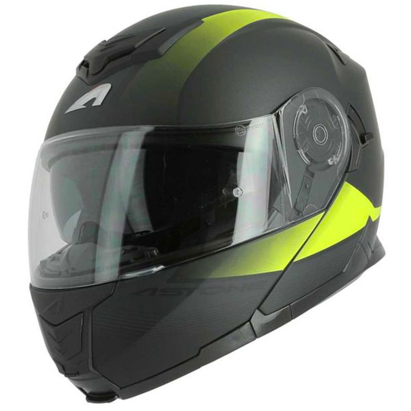Casque Modulable Astone RT 1200 Vanguard Matt Black Yellow Neon