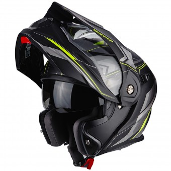 Casque Modulable Scorpion ADX-1 Anima Matt Black Neon Yellow